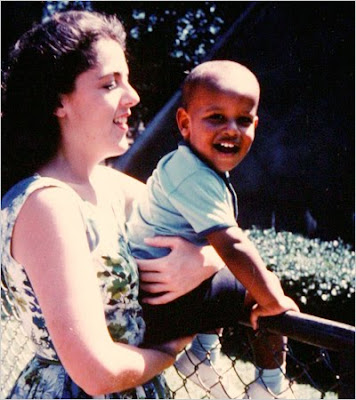 Obama gyerekkori képe.