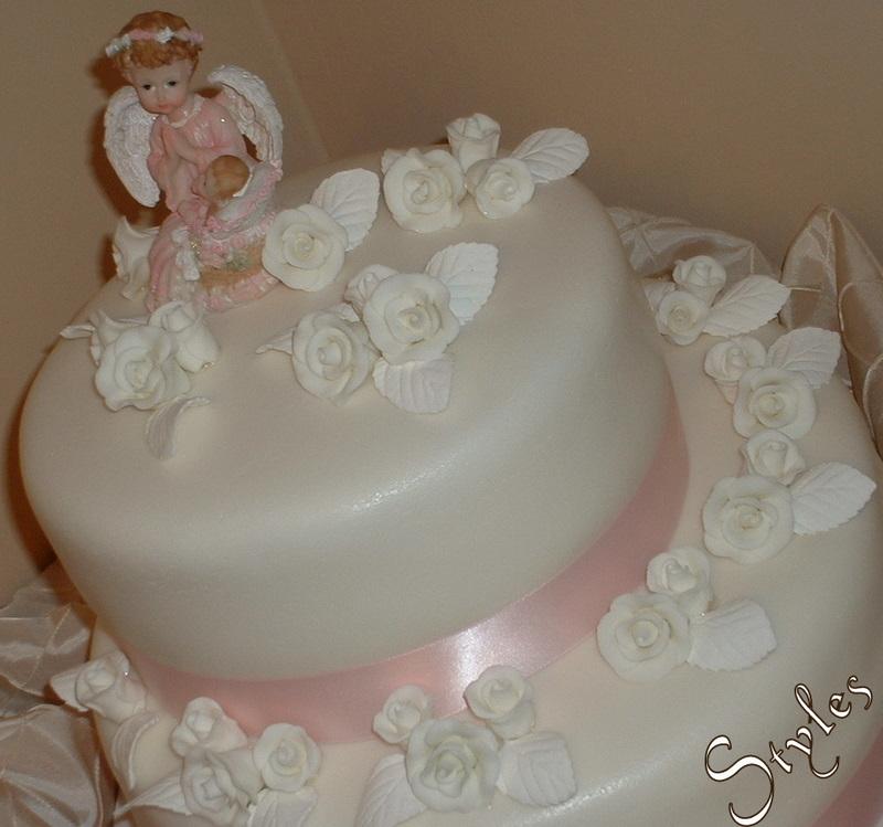 baby girl angel. Angel! Baby Girl Baptism Cake!
