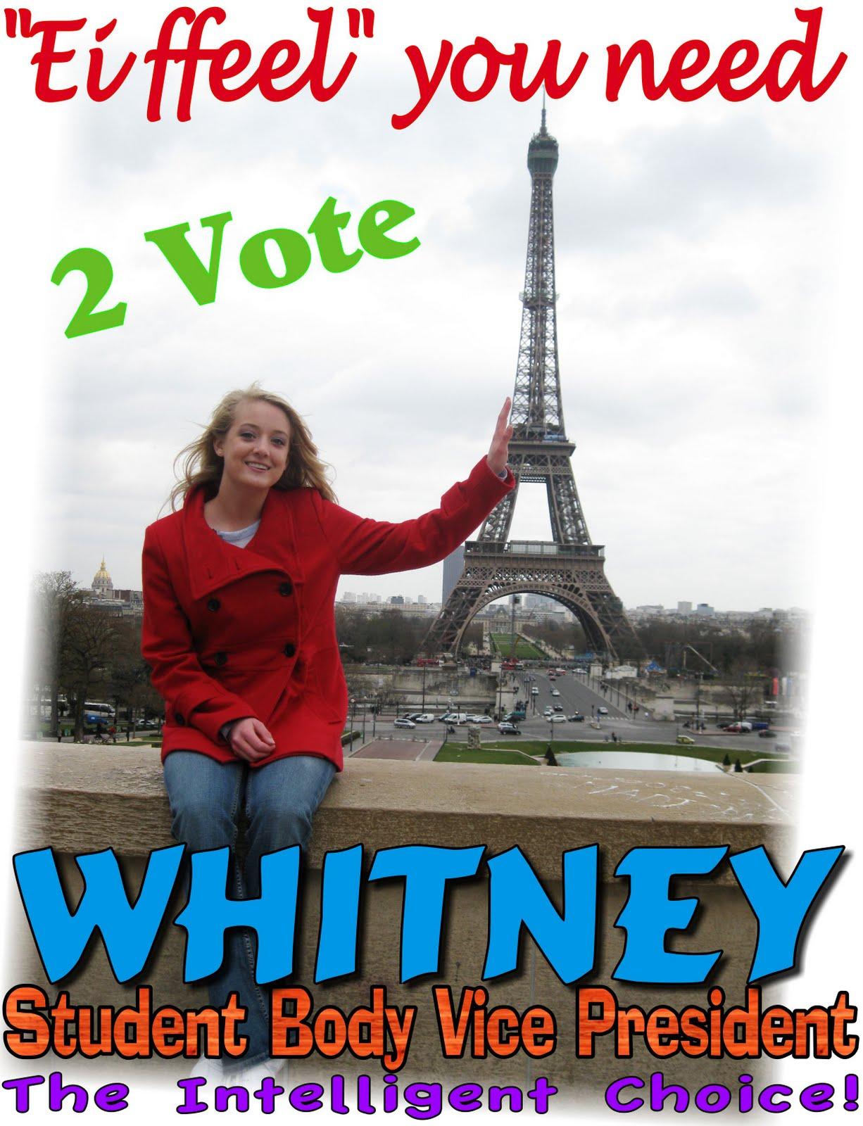 Into the Wood's: Whitney Senior Class President
