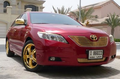 speed vs luxurious 4 wheelers only in dubai 24k gold plated toyota camry. Black Bedroom Furniture Sets. Home Design Ideas