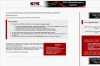 KPK Whistle-Blower Website