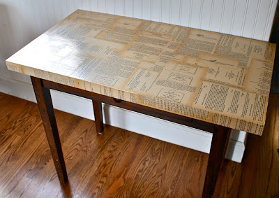One Lucky Day: Decoupage Table top