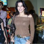Bollywood Actress Pooja Bedi Bra Shining Through Top : Hot Pix