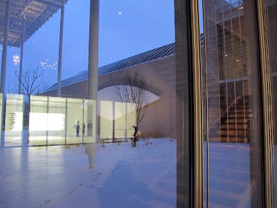 Art Institute Chicago Modern Wing winter Renzo Piano Pritzker Garden reflections