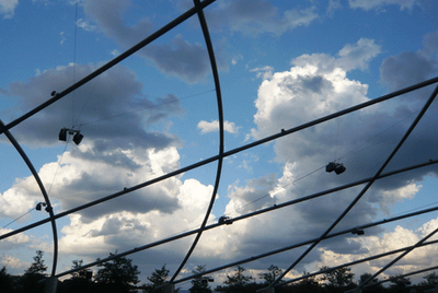 Frank Gehry Pritzker Pavilion trellis Chicago Millennium Park