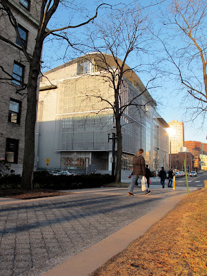 Fumihiko Maki MIT Media Lab Cambridge Massachusetts distant exterior