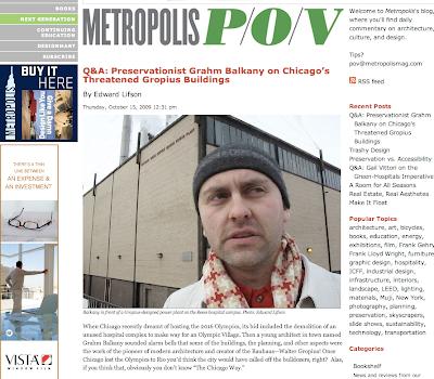Save Walter Gropius in Chicago Michael Reese Metropolis Magazine Grahm Balkany
