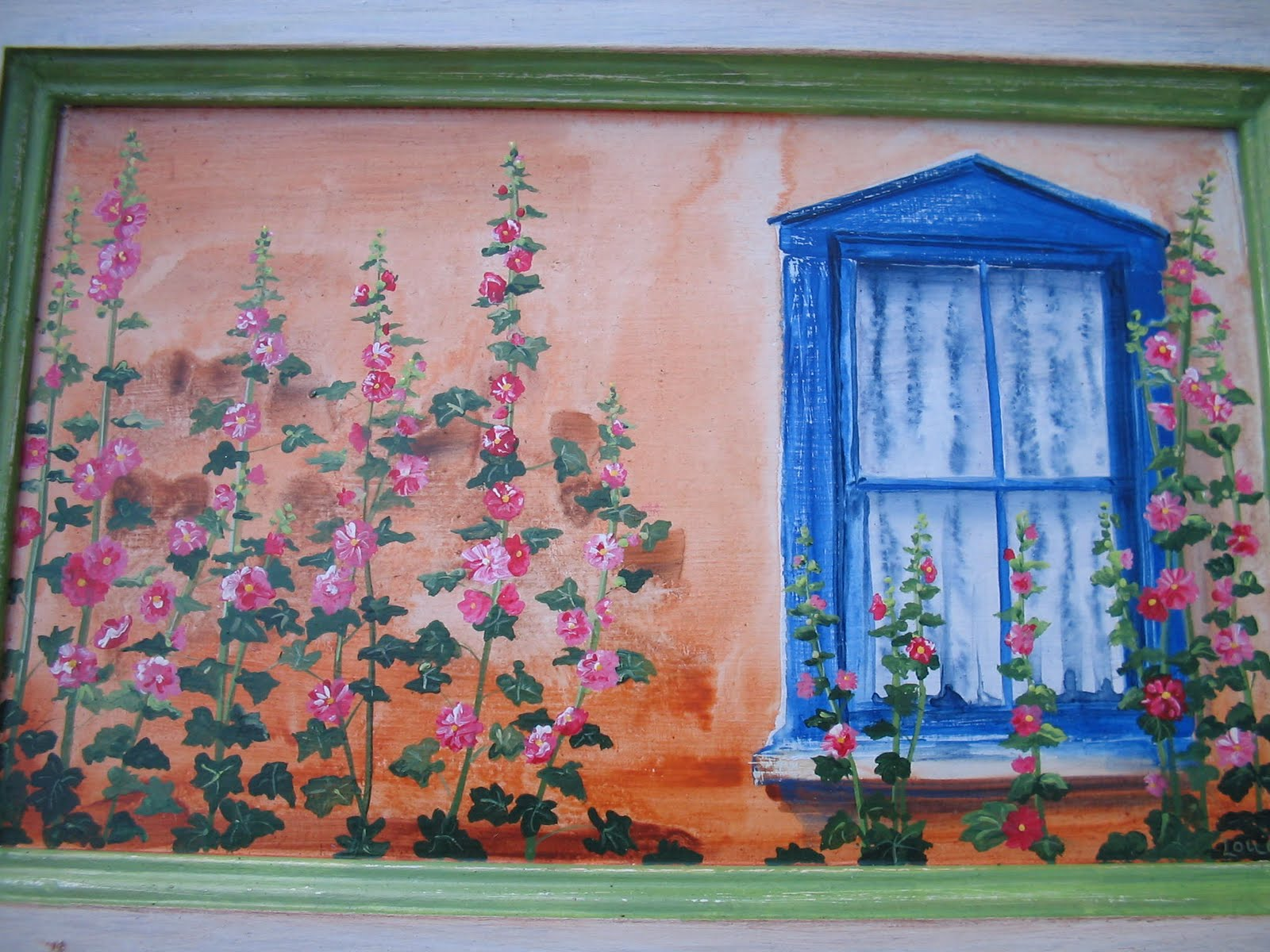 Field of Flowers acrylic on recycled cabinet door & CurlyArt - Wedding Flower Preservation on Canvas: Acrylic ...