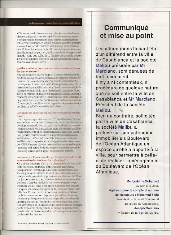 Entretien de la Gazette du Maroc avec Rachid BEDDAOUI, P2
