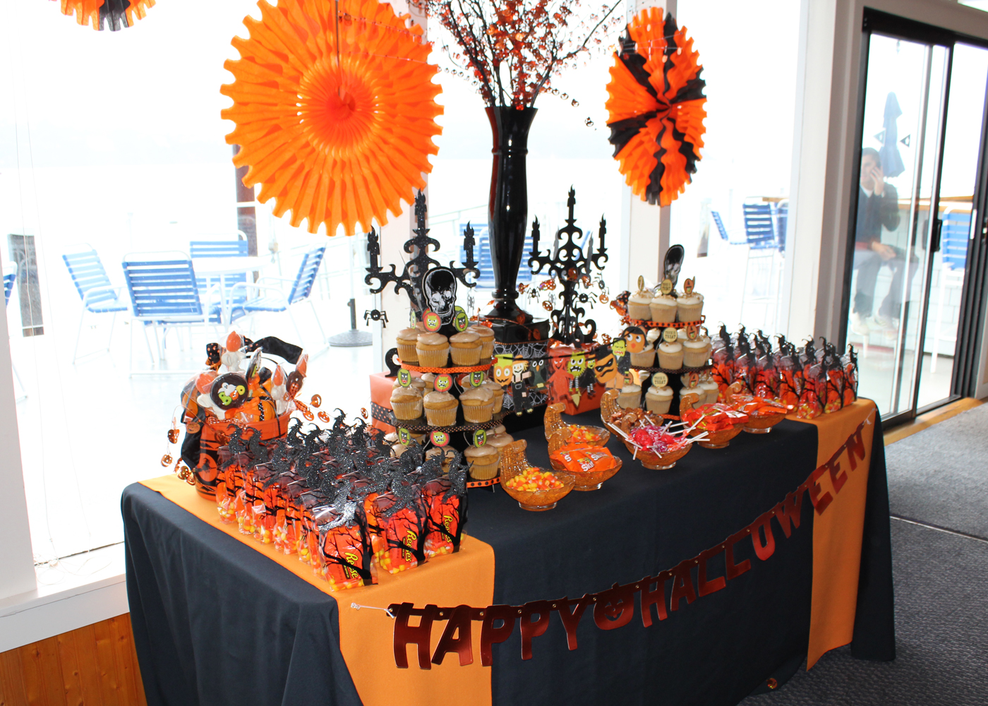 le fleur couture halloween themed baby shower