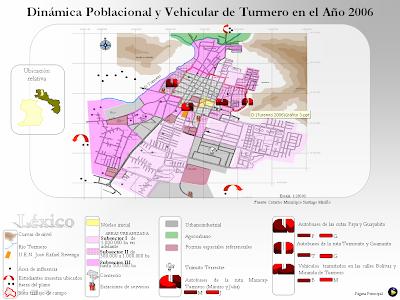 Johana Perozo Dinmica poblacional y vehicular de Turmero ao 2006