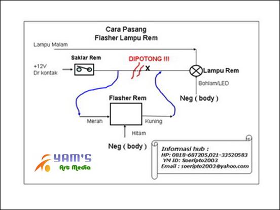 Cara pasang Flasher Rem