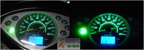 Led Speedometer Shogun Hijau