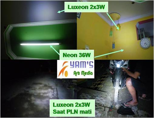 Lampu Senja Luxeon 2bh x 3w