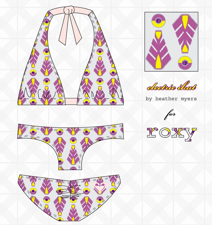 roxy bikini cynthia rowley for roxy bikini summer fashion, bright swimwear, ...
