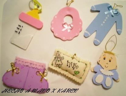 Manualidades Karen: Distintivos para Baby Shower
