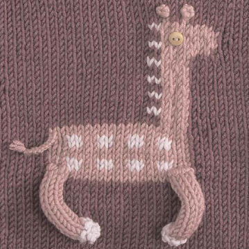 The Friendship Afghan Project Pattern Of The Day Giraffe Square