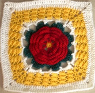 SmoothFox Crochet and Knit: SmoothFox's May Flower - Square 6x6 or