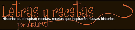 Letras y recetas