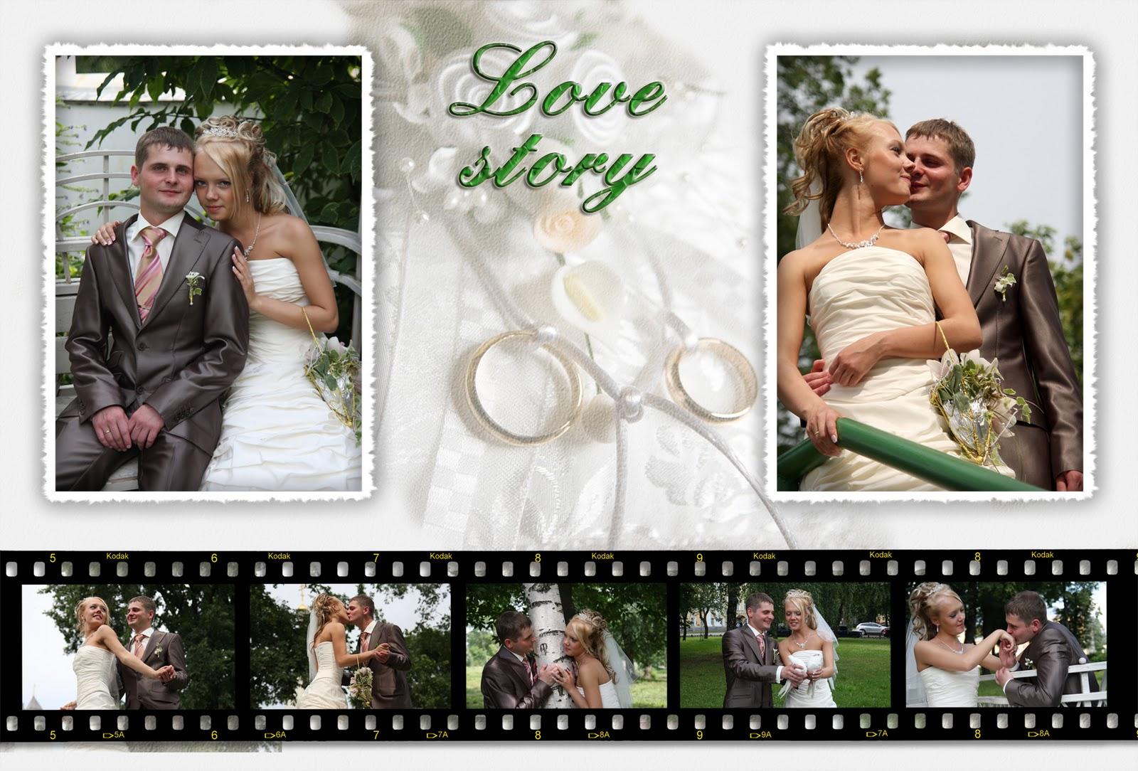 Коллаж из фото на серебряную свадьбу