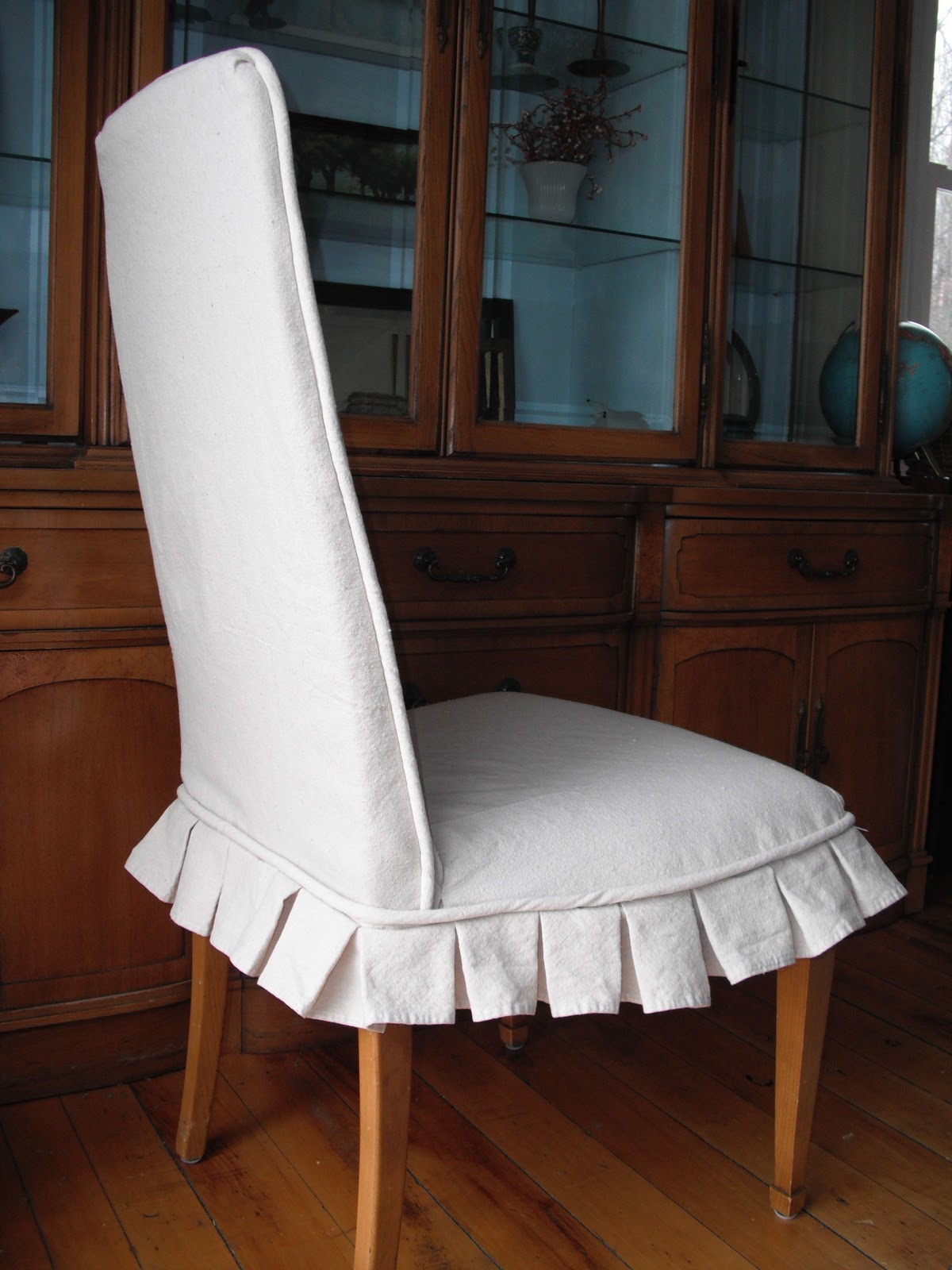 Couch Potato Slipcovers: Dining Chair Cover with Box ...