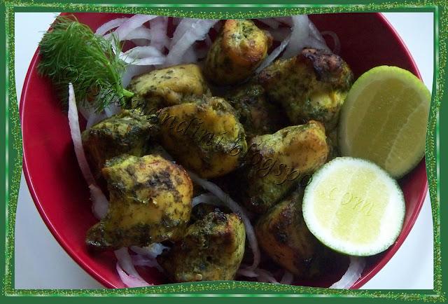 Hariyali Chicken Tikka ~ Nandini's Food