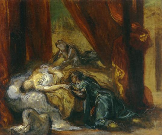 Eug  232 ne Delacroix  1798-1863 Othello And Desdemona Art