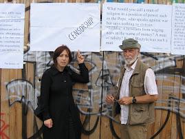 io con Mario Dumini, dopo la censura dei cartelli
