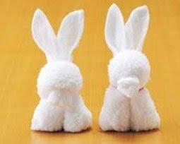 Expattern Napkin Rabbit Bunny Pattern Instruction