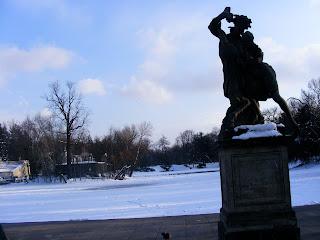 Warsaw Warszawa Poland Winter snow Lazienki Łazienki Park