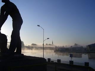 Morning fog from Szczecin Glowny Stettin