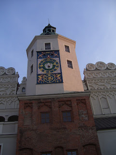 The clock tower at the Pomeranian Dukes Castle