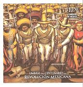 . cien años de la revolución y doscientos de la independencia de México. bandera mexico