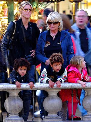 heidi klum children pictures. heidi klum and seal children.