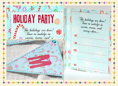 bnute productions Party of the Month Sugarplum Holiday Dessert Party – Dessert Party Invitations