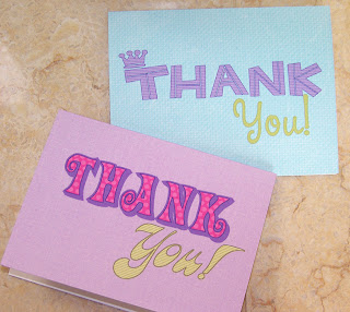 Free Printable Thank You Cards for the Kids by BNute Productions Party Place