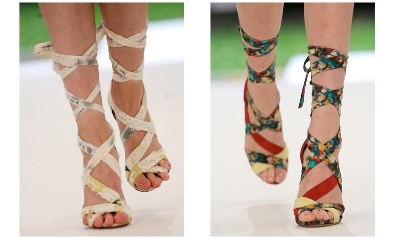 tendencias sandalias gladiadoras 2011