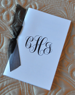 Layout Anna Wedding Program Ink Color Black Paper White Linen Cover