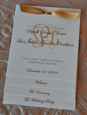 Layout Laurie Wedding Program Ink Colors Brown and Gold