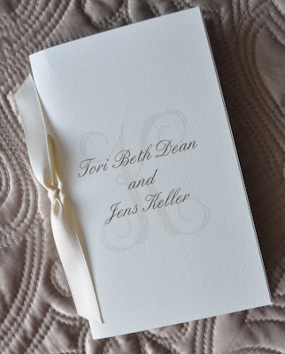 Layout Anna Wedding Program Ink Color Slate Paper Natural Linen