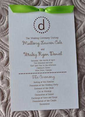 Sample Wedding Programs Layout