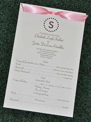 Wedding program ribbon 1 10 from 40 votes wedding program ribbon 2 10