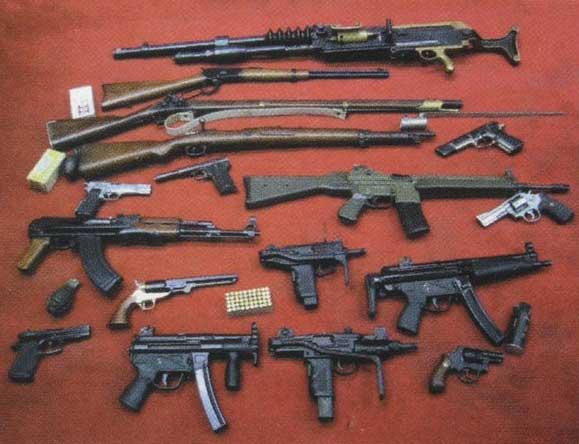 Imagenes animadas de armas de fuego, pistolas, granadas y mas