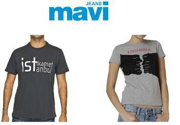 mavi3 - Mavi Jeans �stanbul T-shirt 'leri