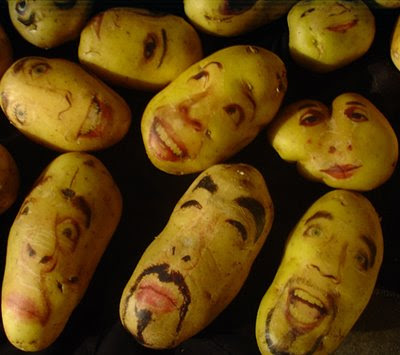 Las patas, potato portrait, painting on potato: cool stuff