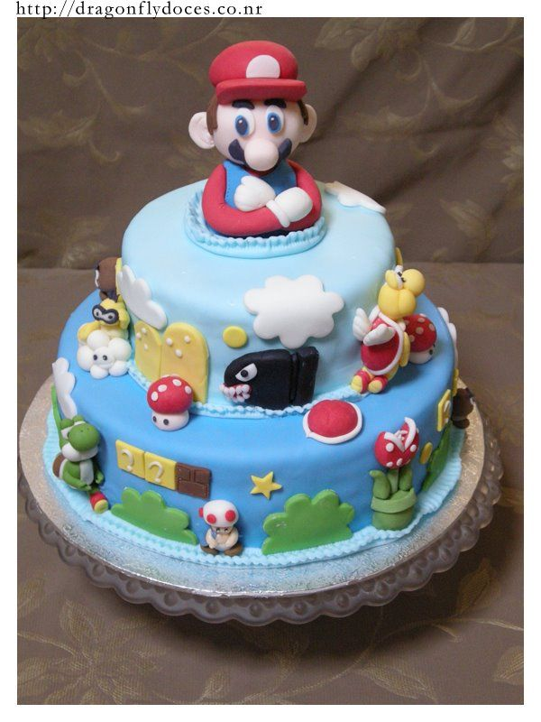 super mario bros birthday cake,super mario cake
