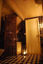 I ett av våra badrum det som är färdigt