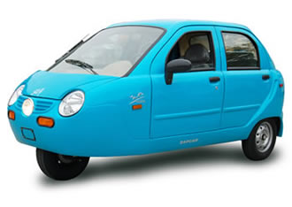 New electric 3 wheeled car