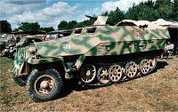 German ww2 troop carrier half track car
