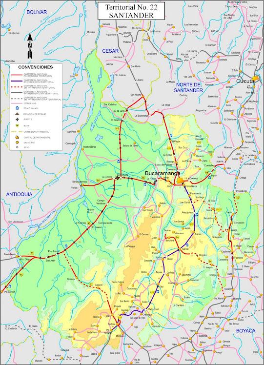Santander extremo for Mapa santander sucursales